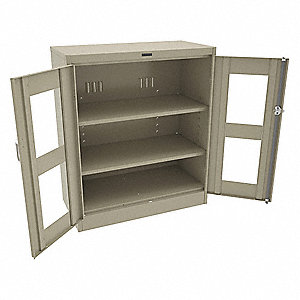 Counter Height Storage Cabinet,Sand