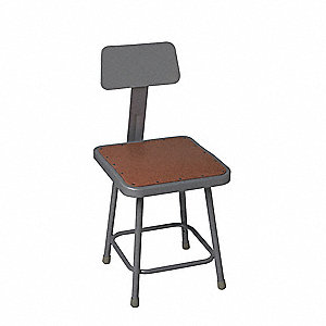 Square Stool,Yes Backrest,25in to 33in