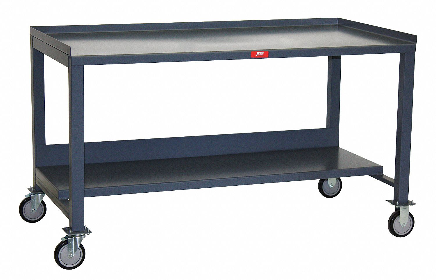 Workbench, Steel, 36 in Depth, 35 in to 39 in Height, 60 in Width, 1,400 lb Load Capacity