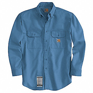 FR Long Sleeve Shirt,Blue,4XL,Button