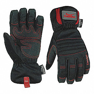 Cold Protection Gloves, Thinsulate Lining, Gauntlet Cuff, Black, L, PR 1