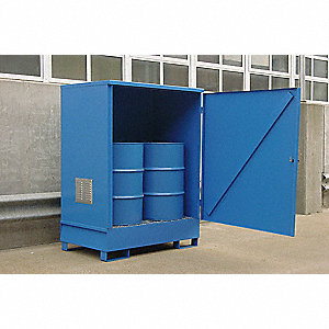 "54"" x 73"" Welded Steel Non Combustible Drum Locker"