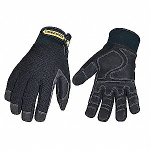 Cold Protection Gloves, Waterproof Membrane, 40g Thinsulate, 100% Poly Tricot Lining, Neoprene with