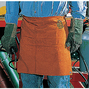 "LeatherWelding Waist Apron, Length 18"", Rawhide Straps Closure Type"