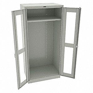 "Wardrobe Cabinet,78"" H,36"" W,Light Gray"