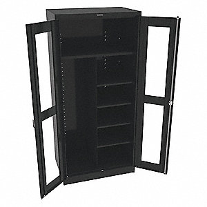 "Commercial Storage Cabinet, Black, 78"" H X 36"" W X 24"" D, Unassembled"