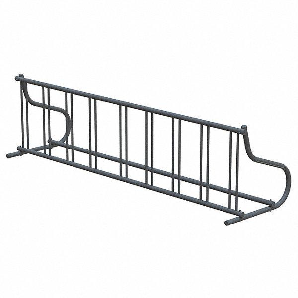 madrax bike rack 1-sided 9-bike 110 in  black