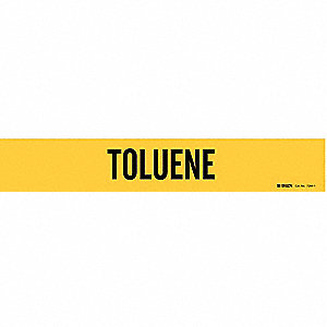 Pipe Marker, Toluene, Yel, 2-1/2 to7-7/8 In
