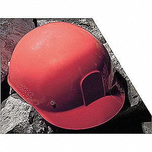 Red Polyethylene Bump Cap, Style: Front Brim, Fits Hat Size: One Size Fits Most