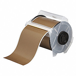"Indoor/Outdoor Vinyl Film Label Tape Cartridge, Gold, 4""W x 100 ft."