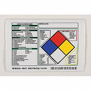 NFR Label,4 In. H,5-7/8 In. W,PK100