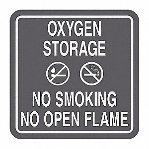 No Smoking Sign,5-1/2 x 5-1/2In,WHT/GRA
