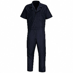 Short Sleeve Coverall,42 to 44In.,Navy