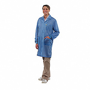 Lab Coat with Cuff,S,Blue