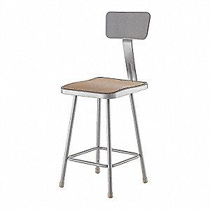 Marvelous Square Stool And 300 Lb Weight Capacity Gray Inzonedesignstudio Interior Chair Design Inzonedesignstudiocom