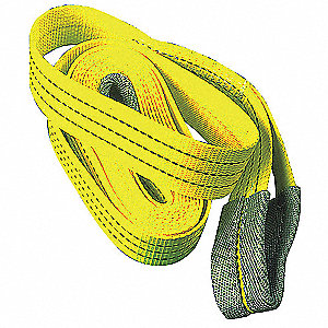 Tow Strap,2 In x 15 Ft,Yellow