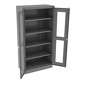 Storage Cabinet,5 Shelves,72x36,Med. Gry