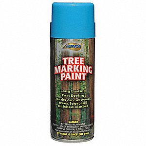 Solvent-Base Tree Marking Paint, Blue, 12 oz.