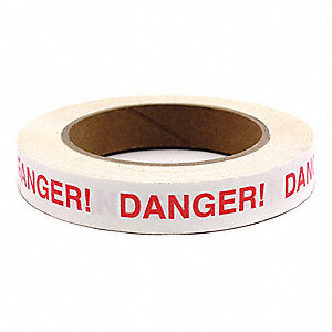 "Imprinted Tape, Message, Continuous Roll, 3/4"" Width, 1 EA"