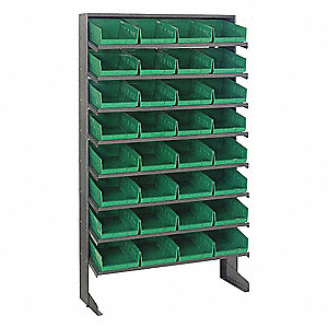 "Pick Rack,60"" Overall H,32 Bins,Green"