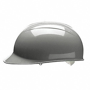 Gray Polyethylene Bump Cap, Style: Front Brim, Fits Hat Size: One Size Fits All