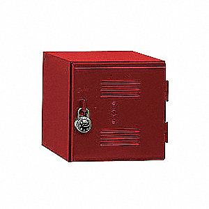 Box Locker,Louvered,1 Wide, 1 Tier,Red