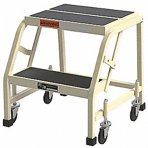 Steel Rolling Platform 20 Overall Height 450 Lb Load Capacity Number