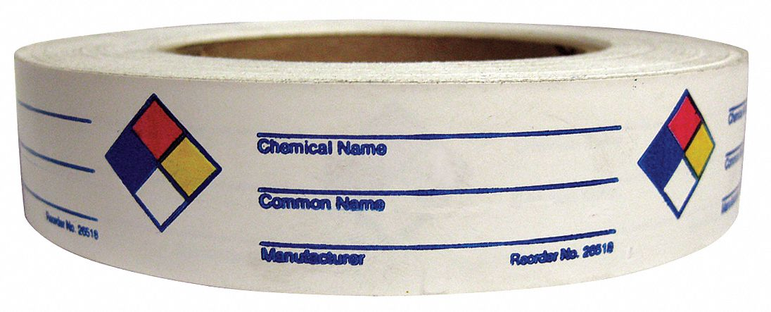 NFR Label,  Vinyl,  English,  NFR,  Blue, Red, Yellow/White,  1 in Height,  3 in Width,  PK 720