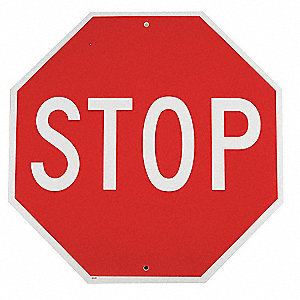 "Text Stop, Plastic Stop Sign, Height 18"", Width 18"""