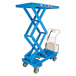 Mobile Scissors Lift Table,Power,660 lb