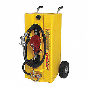 Fuel Caddy, Polyethylene Material, 28 gal. Capacity, Used For Diesel