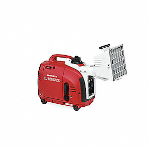 "17-11/16"" x 9-3/8"" x 15"" 0.6 gal. Gas Portable Generator with Light"