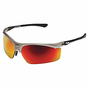 OCC  403 Scratch-Resistant Safety Glasses, Red Mirror Lens Color