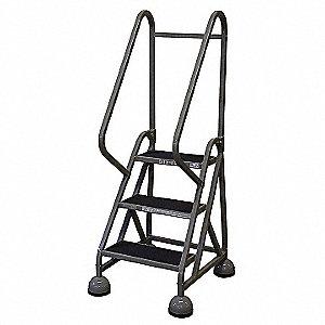 Awe Inspiring 3 Step Rolling Ladder Antislip Vinyl Step Tread 57 Overall Height 450 Lb Load Capacity Pdpeps Interior Chair Design Pdpepsorg