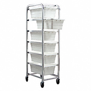 White Tub Rack, 180 lb. Load Capacity