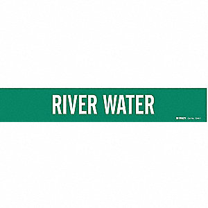 Pipe Marker,River Water,2-1/2to7-7/8 In