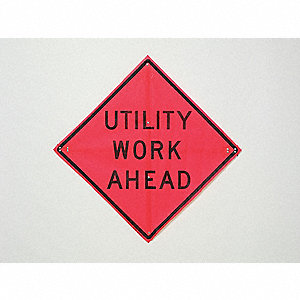"Road Construction Sign,36""H,36""W,Mesh"