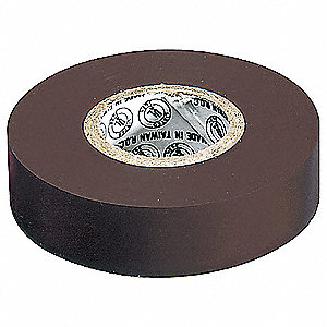 "Brown Vinyl Electrical Tape, 3/4"" Width, 22 yd. Length, 7 mil Thickness"