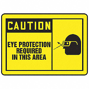 "Personal Protection, Caution, Aluminum, 10"" x 14"", Not Retroreflective"