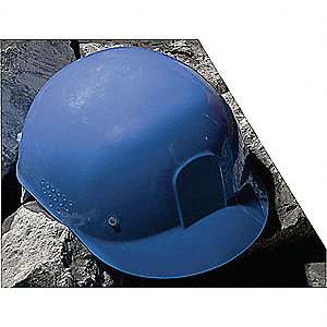 Blue Polyethylene Bump Cap, Style: Front Brim, Fits Hat Size: One Size Fits Most