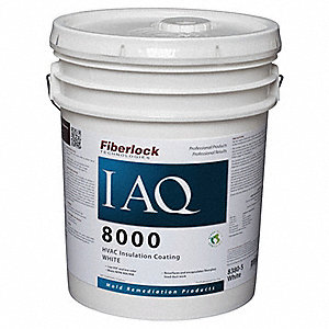 White Mold-Inhibiting HVAC Sealant, Size: 5 gal.
