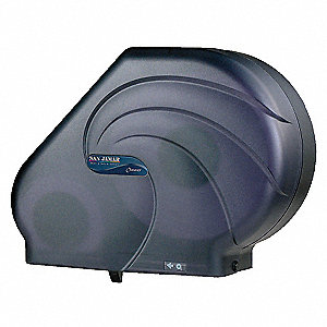 Tissue Dispenser,9 - 10-1/2 In Rolls,Blk