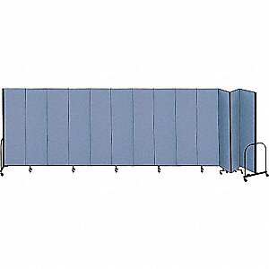 24 ft. 1 in. x 8 ft., 13-Panel Portable Room Divider, Blue
