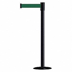 Barrier Post with Belt, Stainless Steel