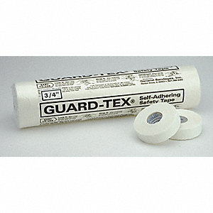 Safety Tape,White,3/4 x 30 yd. L,PK16