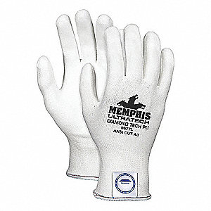 Cut Resistant Gloves,A3,S,White,PR