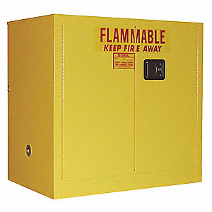 "30 gal. Flammable Cabinet, 35"" x 36"" x 24"", Manual Door Type"