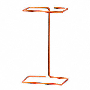 "Bench-Top Biohazard Bag Holder, Orange, 8"" Height, 3"" Width, 1 EA"