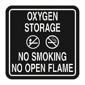No Smoking Sign,5-1/2 x 5-1/2In,WHT/BK