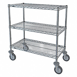 Table Truck,3 Shelf,39x60x36